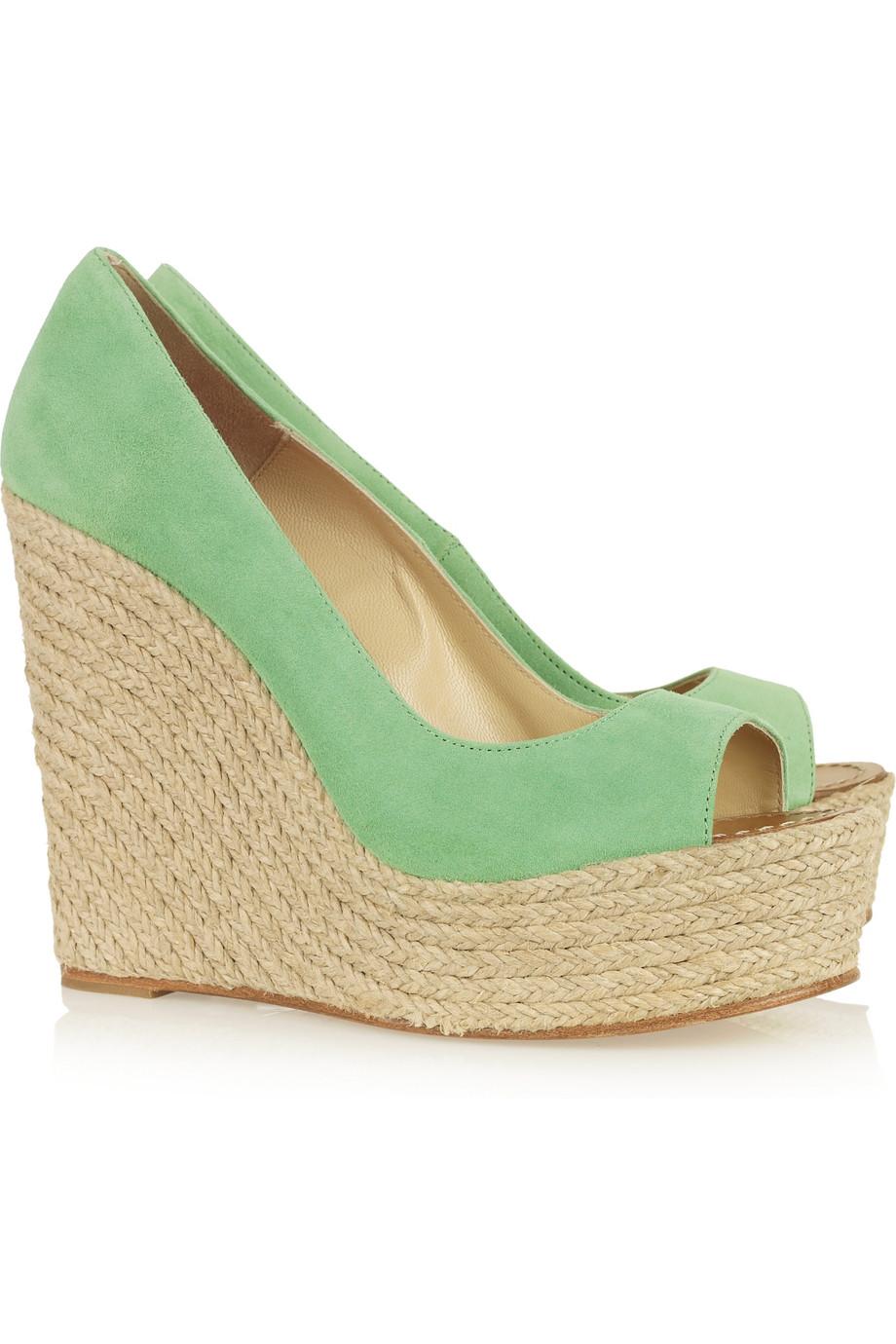 mint green wedge shoes memes