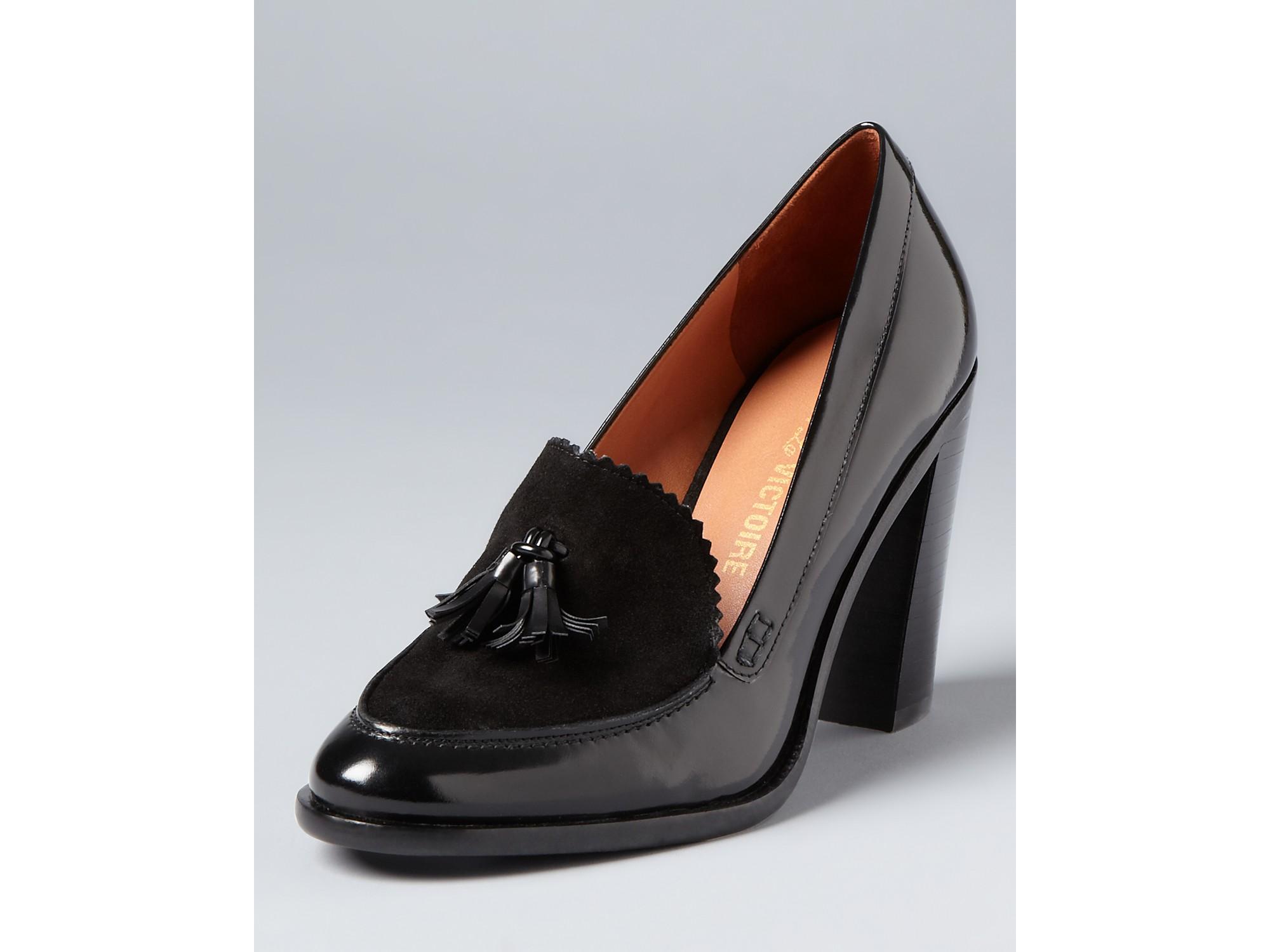 Lyst Pour La Victoire Loafer Pumps Drew High Heel In Black