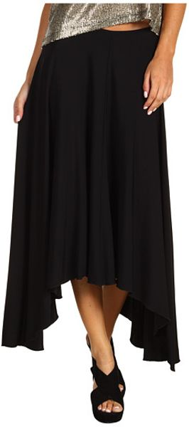 See By Chloé Asymmetric Hem Skirt  in Black (b) - Lyst