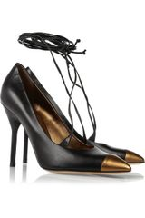 Saint Laurent Opyum Leather Pumps - Lyst