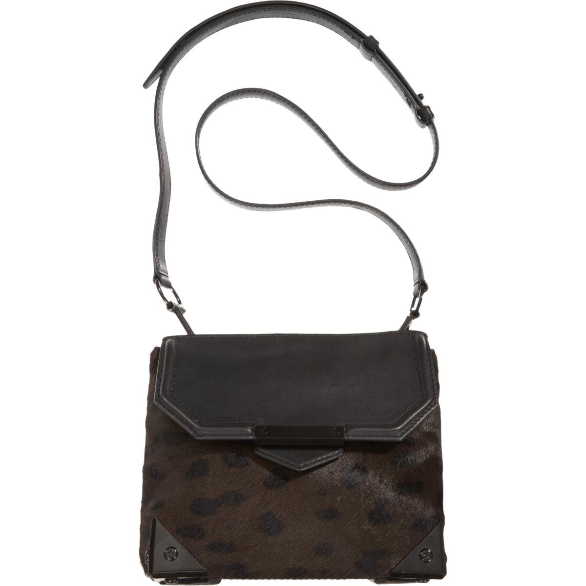Alexander wang Ponyhair Marion Mini Sling Bag in Black | Lyst