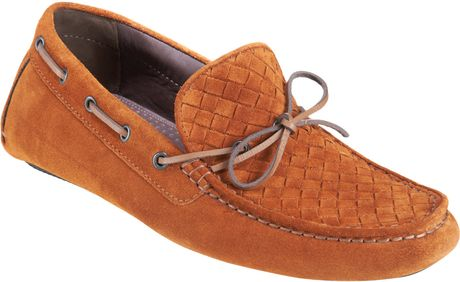 Bottega Veneta Intrecciato Driver in Brown for Men (tobacco) - Lyst