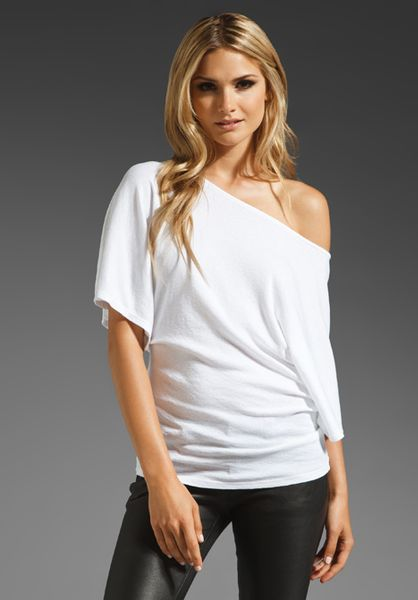 Michael Stars Shine Off The Shoulder Dolman Top in White - Lyst