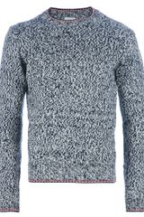 Moncler Wool Knit Jumper - Lyst
