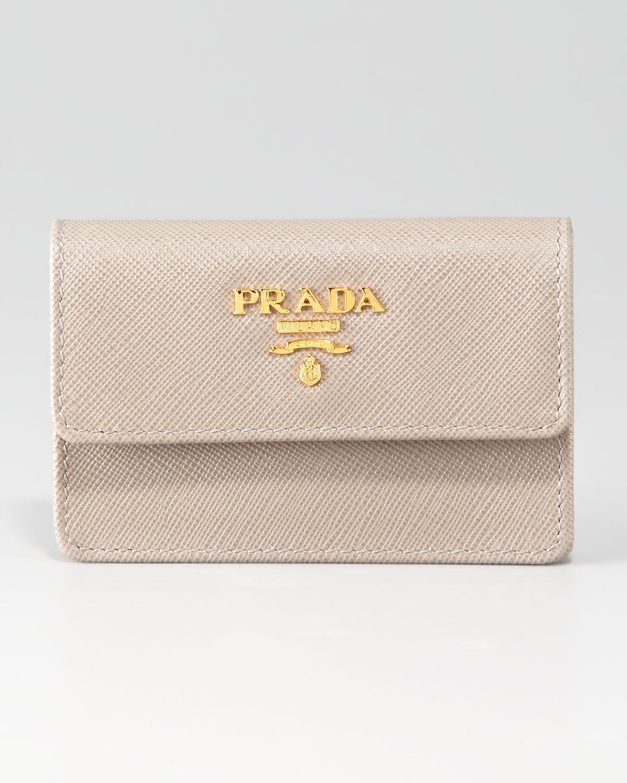 Lyst - Prada Business Card Case in Natural