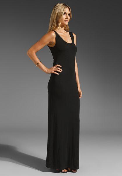 031df7b8 Saint Grace Prima Jersey Low Back Maxi Dress in Black