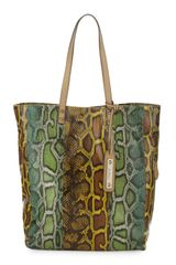 Sam Edelman Pythonprint Northsouth Tote Maize - Lyst
