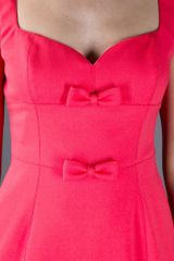Valentino Bow Dress in Pink - Lyst