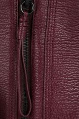 3.1 Phillip Lim Pashli Leather Tote in Brown (aubergine) - Lyst
