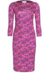 Erdem Reese Floral Printed Dress in Purple (floral) - Lyst