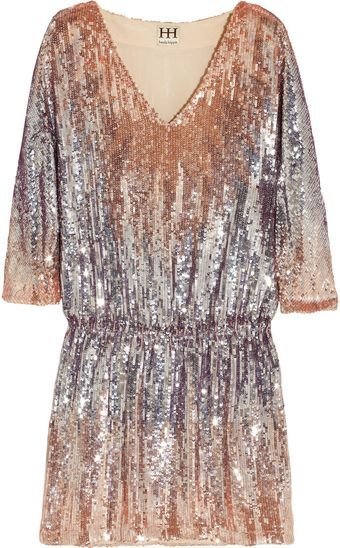 Haute Hippie Sequined Mini Dress - Lyst