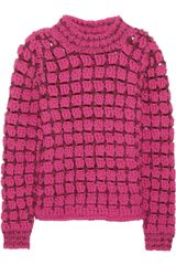 Marc Jacobs Hand Crocheted Wool Blend Sweater - Lyst