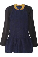 Preen Heather Woolbrocade and Cotton Top - Lyst
