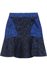 Stella Mccartney Patty Brocade Skirt in Blue (black) - Lyst