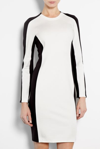 3.1 Phillip Lim Lightweight Long Sleeved Shadow Dress in Black (white) - Lyst