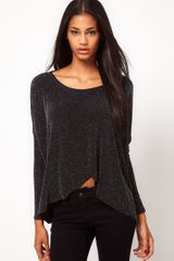 ASOS Collection Asos Tunic with Wrap Back in Sparkle Fabric - Lyst