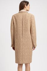 Chloé Lace Coat in Beige (camel) - Lyst