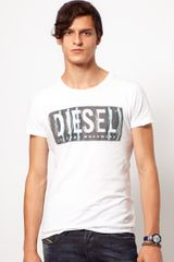 Diesel Tshirt with Label Print - Lyst