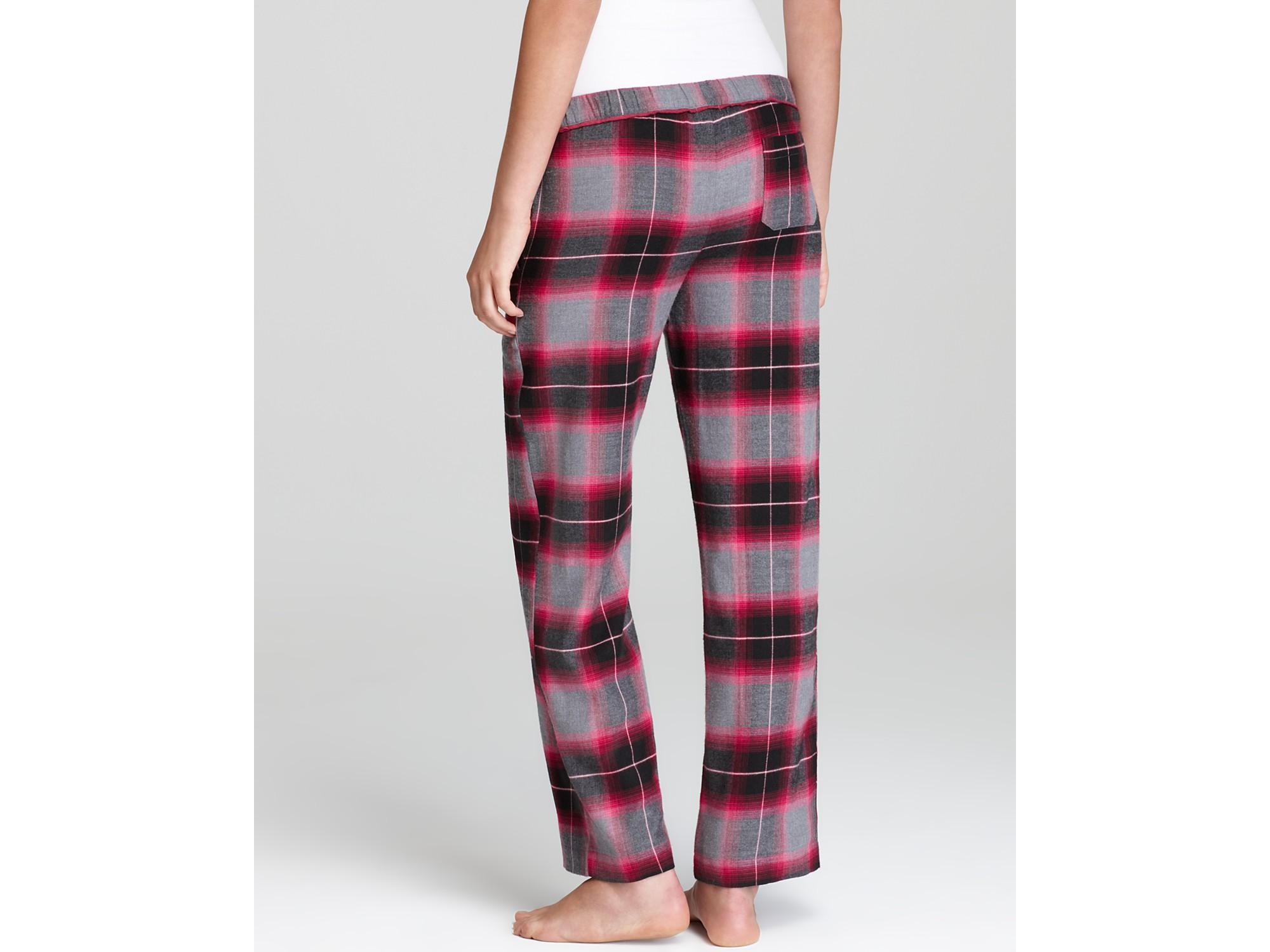 Dkny Pattern Play Flannel Pj Pants in Red | Lyst