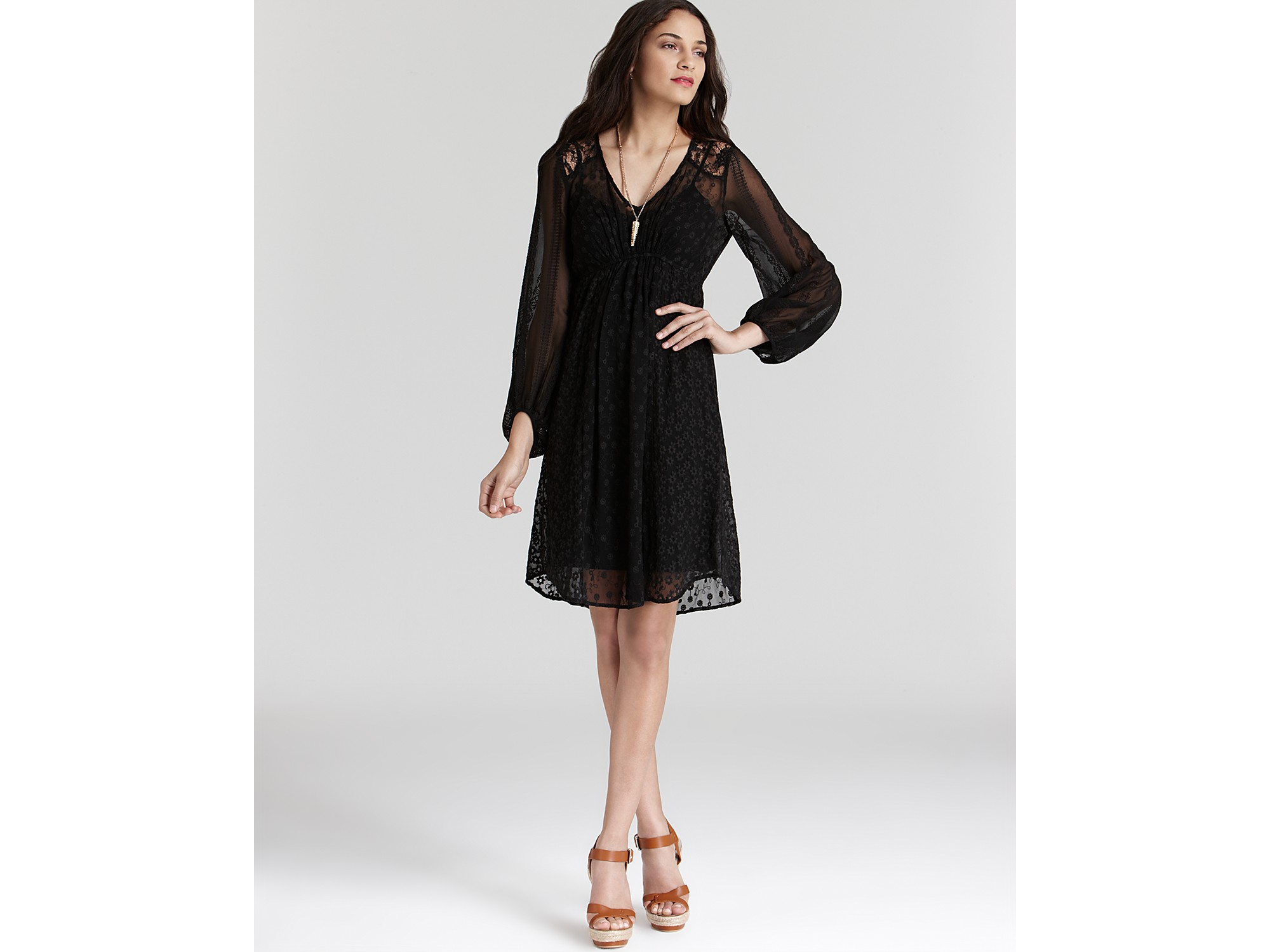 Ella moss black lace dress