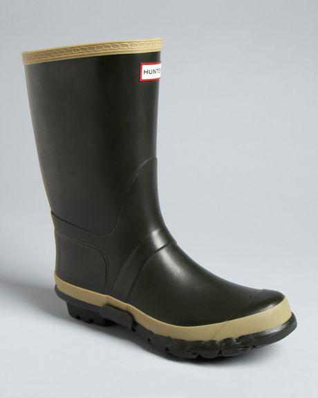 Hunter Garden Rain Boots In Green For Men Dark Green Lyst