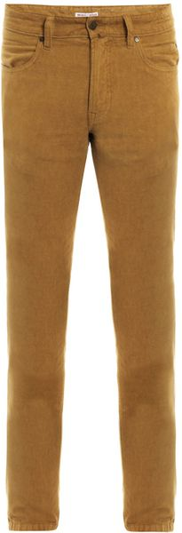 Michael Bastian Horizontal Corduroy Trousers in Yellow for Men (mustard)