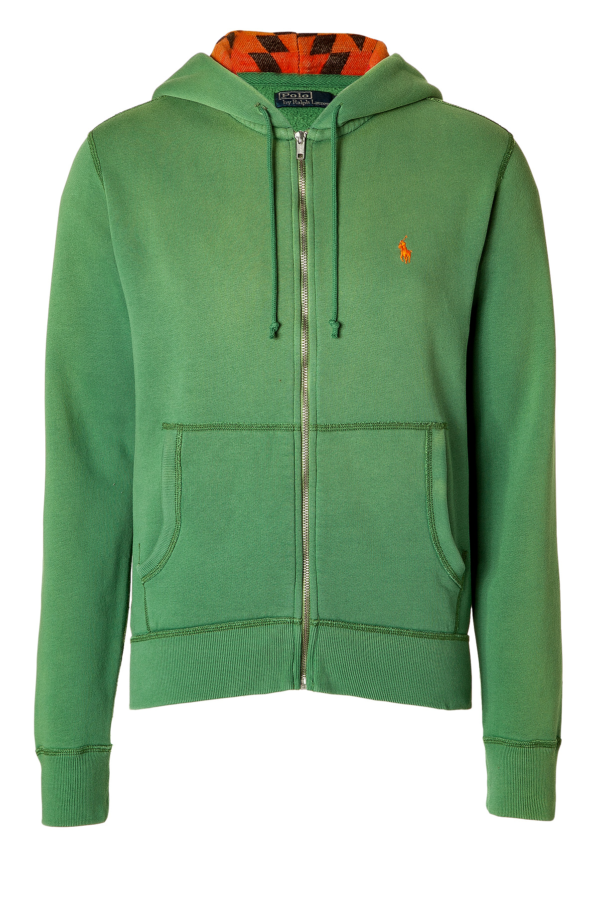 polo ralph lauren pasture green fleece detailed cotton hoodie in green for men lyst. Black Bedroom Furniture Sets. Home Design Ideas
