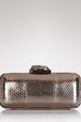 Rafe New York Clutch Demi Watersnake Box - Lyst