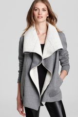 Sachin & Babi Porto with Shawl Collar Wool Blend Lining Jacket  in Gray (graphite) - Lyst