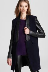 Sachin & Babi Noah with Leather Sleeves Trim Jacket  in Black (midnight) - Lyst