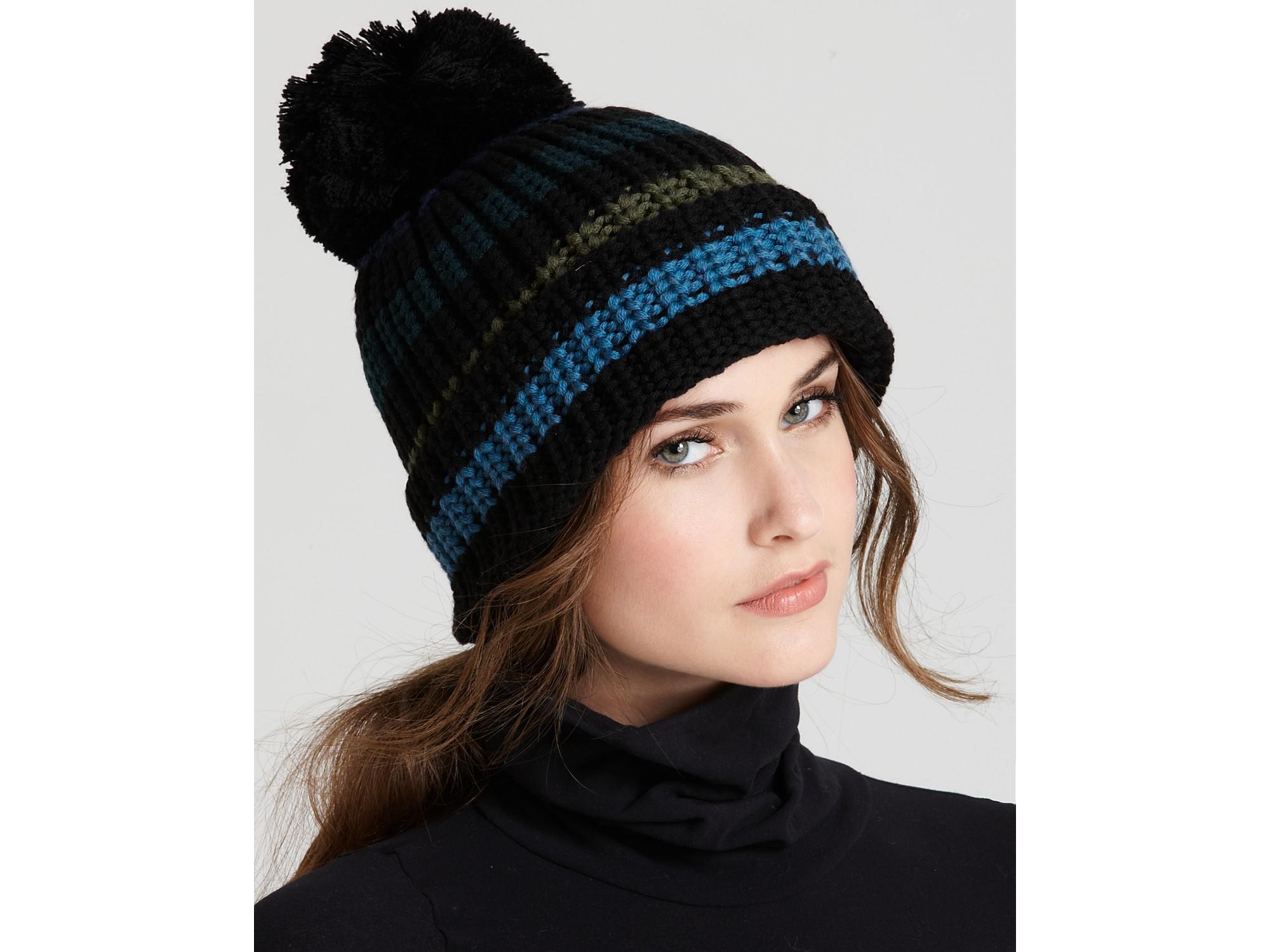 44a14d44f02 Lyst - Sonia Rykiel Wool Stripe Knit Hat in Blue