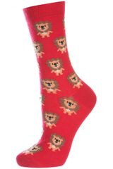 Topshop Little Lion Ankle Socks - Lyst