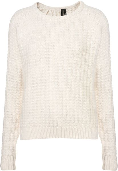 Topshop Angora Stitch Jumper By Boutique in White (cream) - Lyst