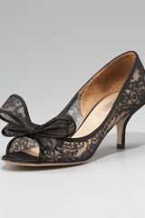 Valentino Couture Bow Lace Pump - Lyst
