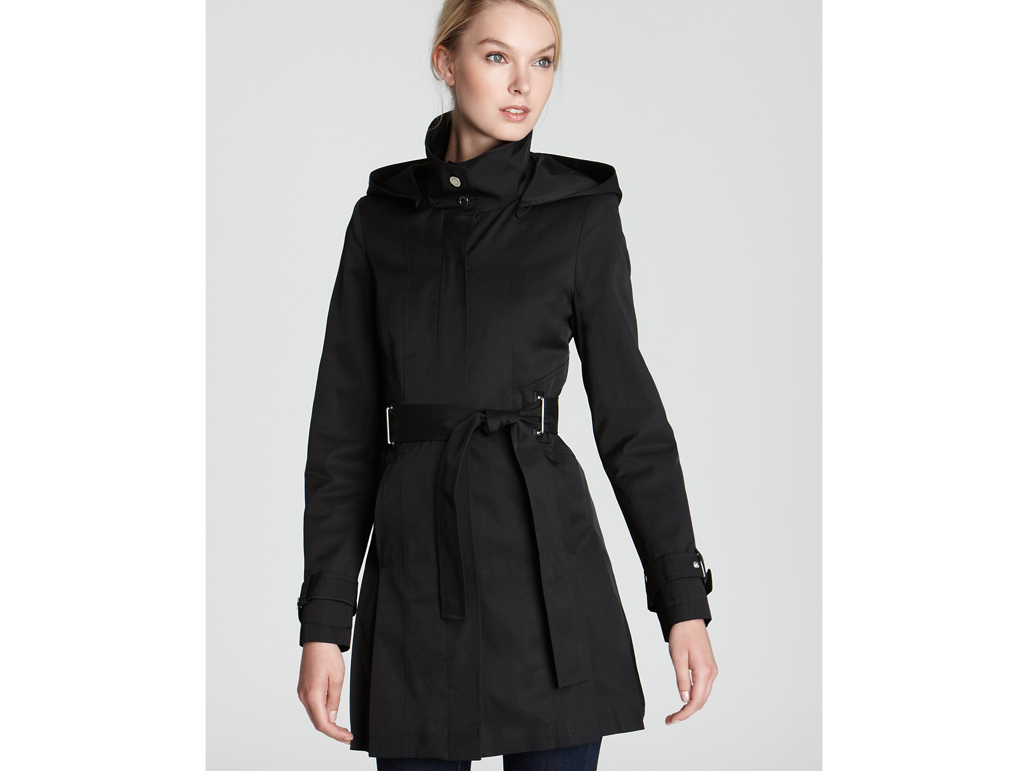 black trench coat with hood - photo #47