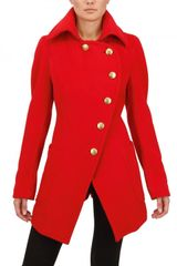 Vivienne Westwood Anglomania Wool Flannel Coat in Red - Lyst