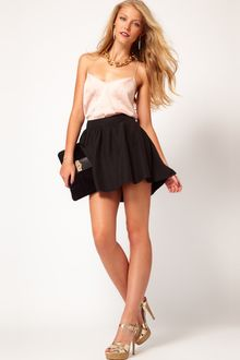 ASOS Collection Asos Mini Skirt with Hi Low Hem - Lyst
