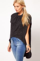 ASOS Collection Asos High Neck Dip Back Top - Lyst