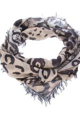 Mcq By Alexander Mcqueen Animal Print Pashmina in Purple (animal) - Lyst
