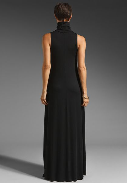 Rachel Pally Turtleneck Maxi Dress In Black Lyst
