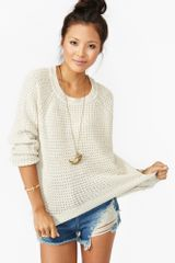 Nasty Gal Oxford Knit Cream - Lyst