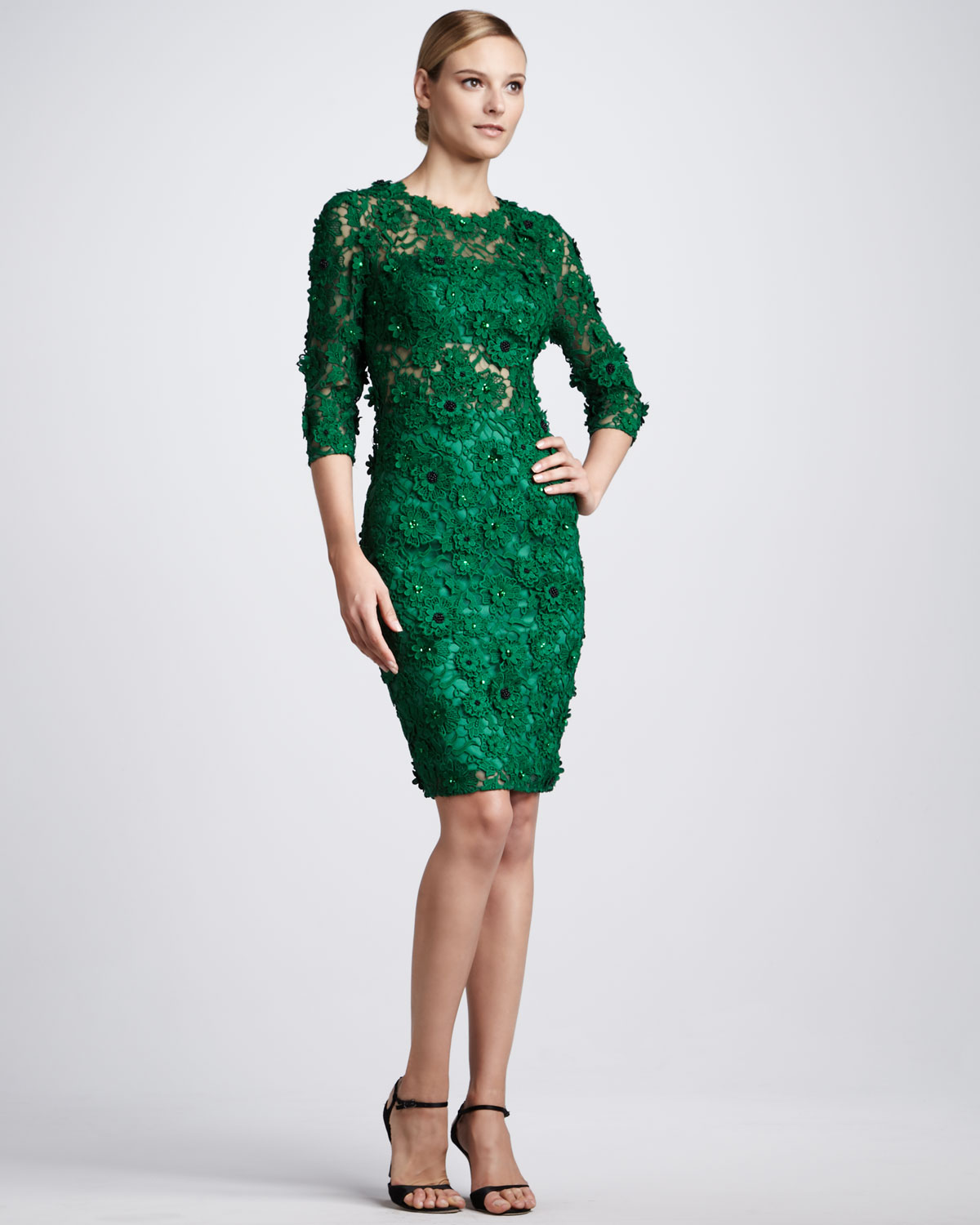 Green Lace Cocktail Dress