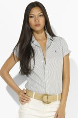 Ralph Lauren Blue Label Myrah Striped Shirt - Lyst