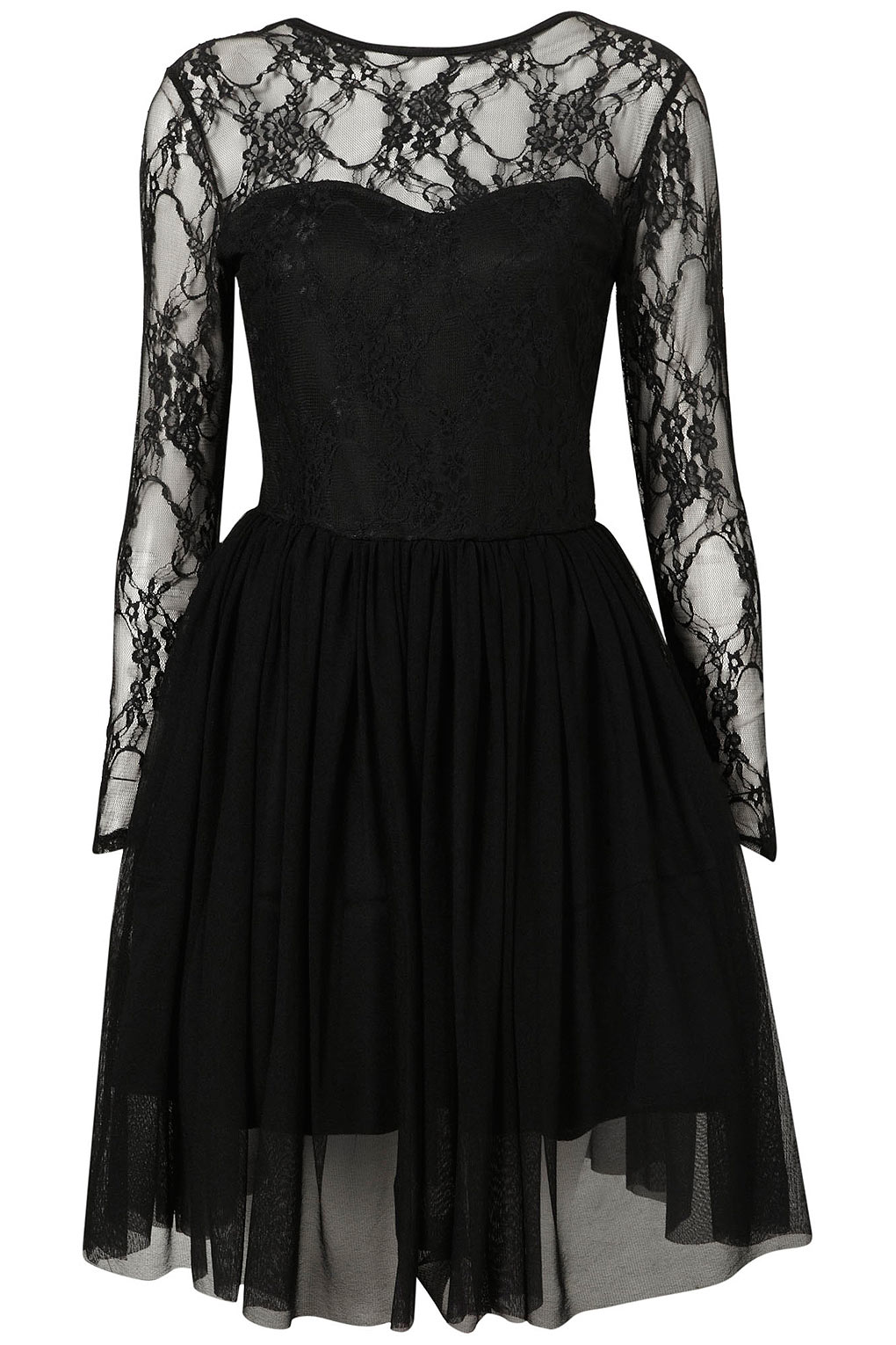 Black Lace Dress Topshop