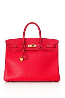 Vintage Hermès From Heritage Auctions Vintage 40cm Rouge Casaque Togo Leather Birkin - Lyst