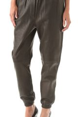 3.1 Phillip Lim Leather Sweatpants in Black - Lyst