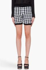 3.1 Phillip Lim Wool Houndstooth Shorts - Lyst