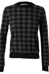 A.L.C. Checked Wool Jumper - Lyst
