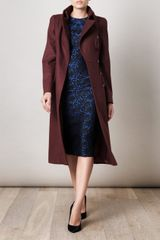 Alexander Mcqueen Peplum Coat in Purple (burgundy) - Lyst
