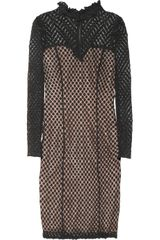 Alice By Temperley Davis Polkadot Stretch Tulle Dress - Lyst